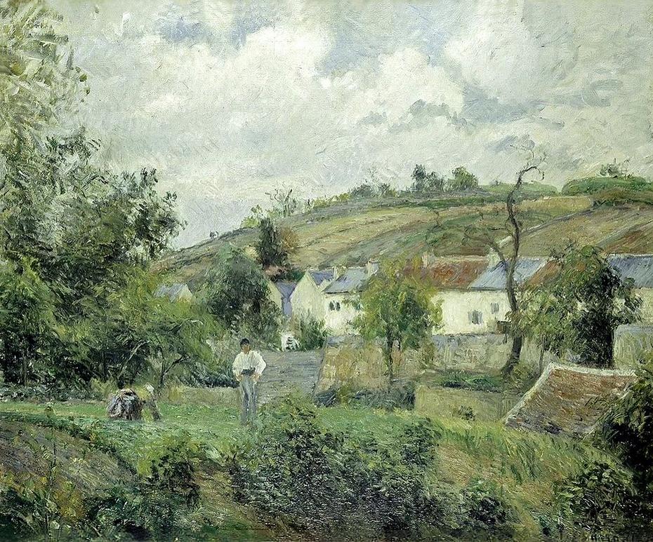 A Corner of L'Hermitage, Pontoise