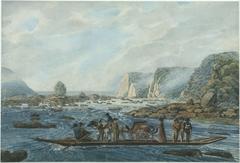 A Ferry Scene on the Susquehanna at Wright's Ferry, near Havre de Grace