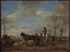 A Man and a Woman on Horseback