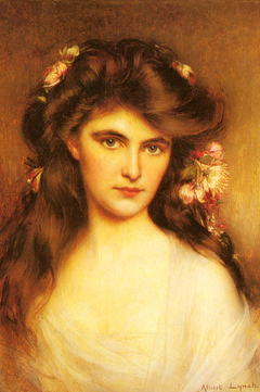 A Young Beauty With Flowers In Her Hair