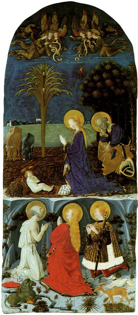 Adoration of the Child with Saint Girolamo, Maddalena and Eustachio