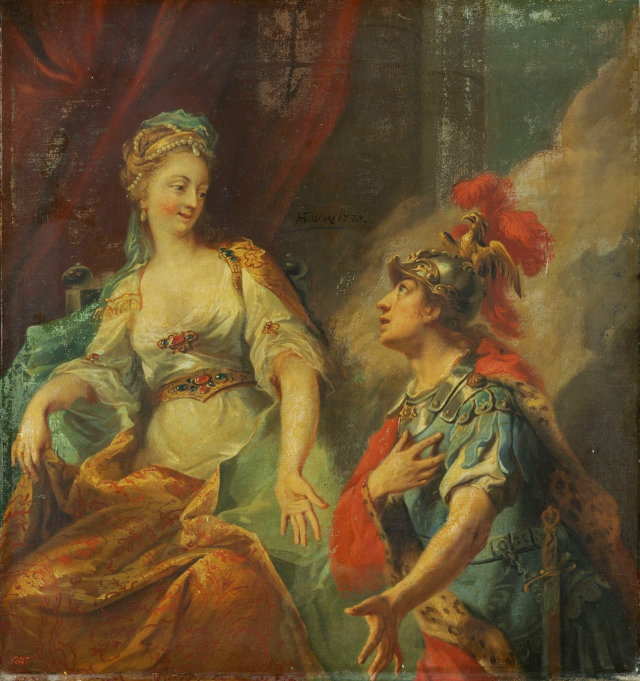Aeneas before Dido
