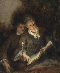 An elegant couple singing by candlelight ('The Duet')