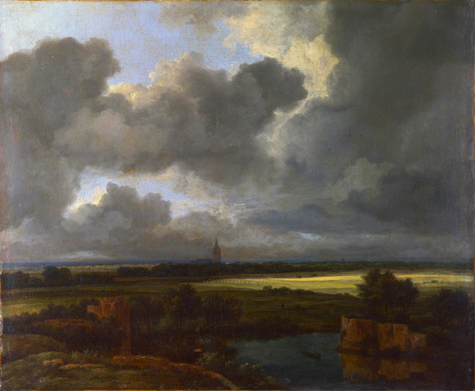 An Extensive Landscape with Ruins