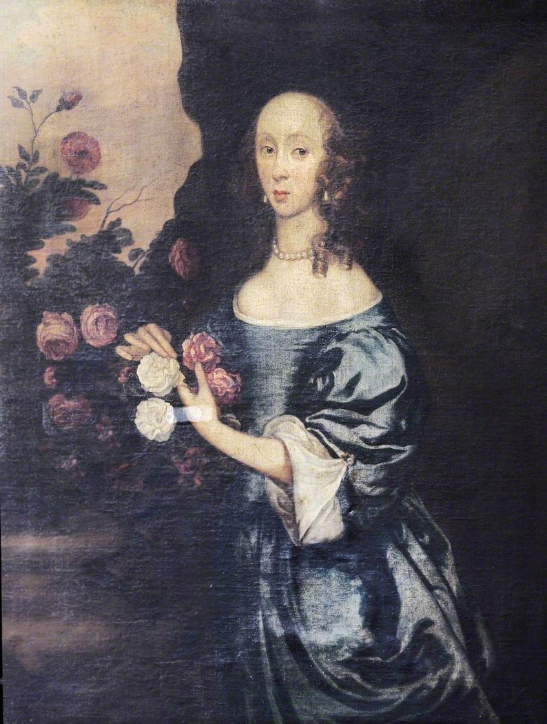 An Unknown Lady with Roses, once called Jane Glynne, Lady Williams