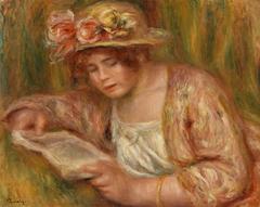 Andrée in a Hat, Reading (Andrée en chapeau, lisant)