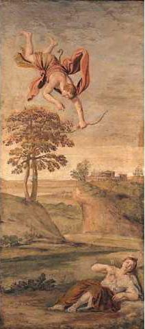 Apollo slaying Coronis