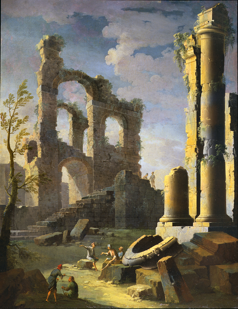 Architectural Capriccio with Figure, Dawn