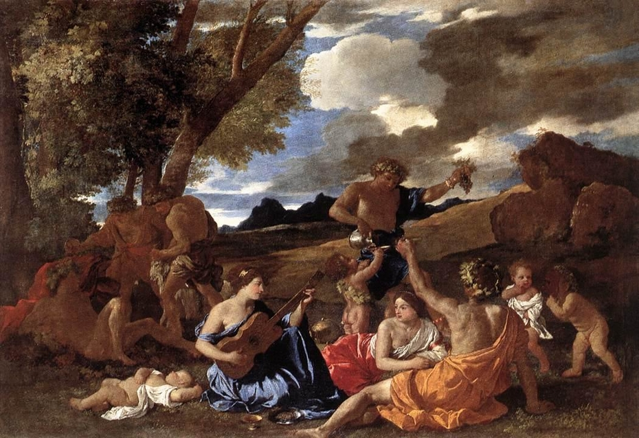 Bacchanal with a Lute Player