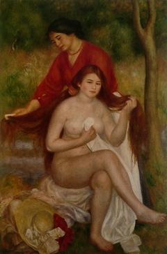 Bather and Maid (La Toilette de la baigneuse)