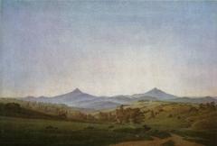 Bohemian Landscape with Mount Milleschauer
