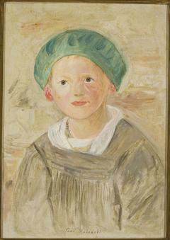 Boy in a green cap