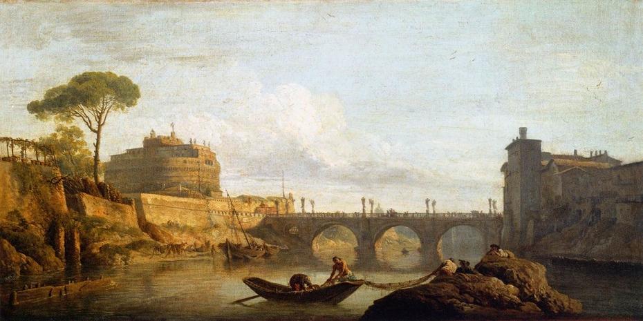 Bridge and Castel Sant'Angelo in Rome