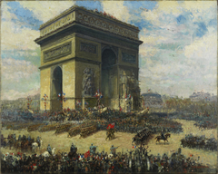 Canadians Passing in Front of the Arc de Triomphe, Paris