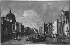 Canale Grande mit der Chiesa degli Scalzi alle Fondamenta della Croce und San Simeone Piccola (Nachahmer)