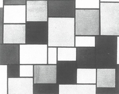Composition with color planes and gray lines 2