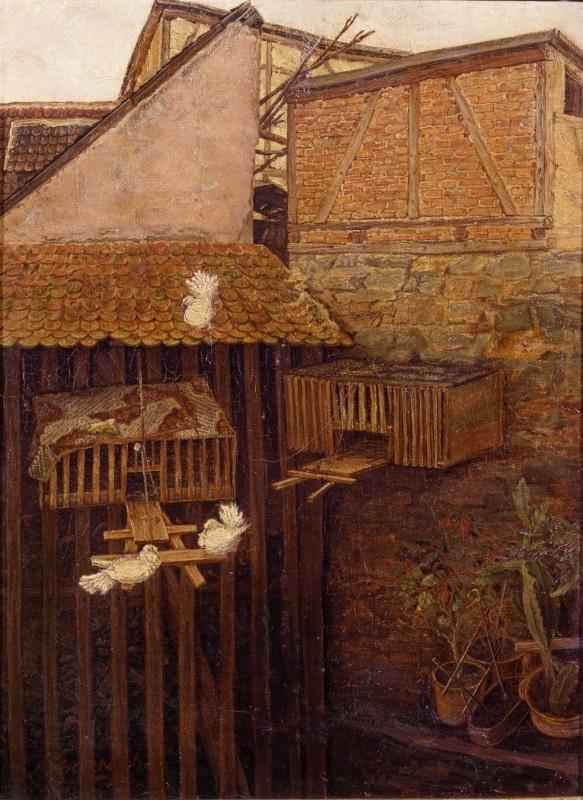 Ecke in einem Hof