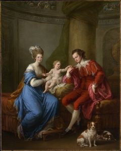 Edward Smith Stanley, Twelfth Earl of Derby, with His First Wife and Their Son