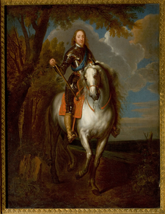 Equestrian Portrait of a Man in Armour