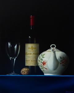 Fleur Milon wine bottle 40x50cm