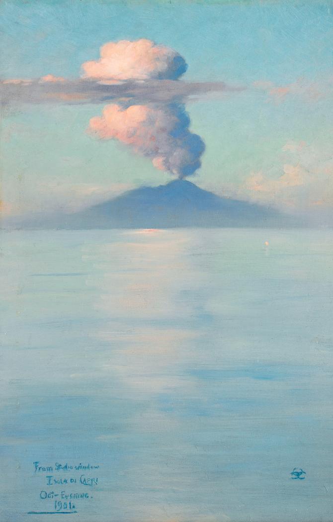From Studio Window, Isola di Capri, October Evening