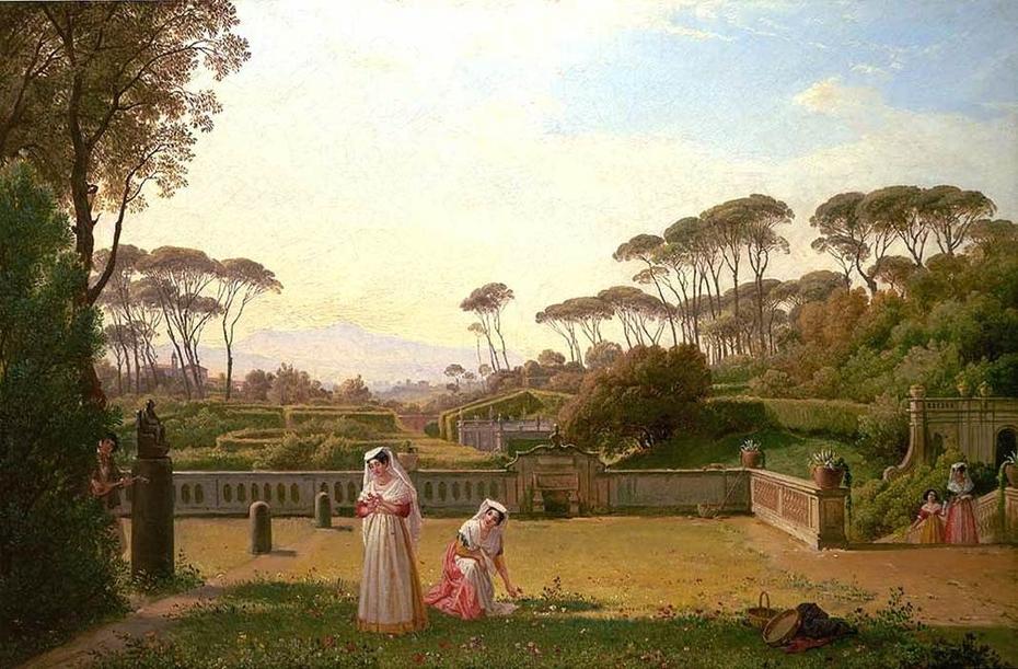 Garden of the Villa Doria Pamphili in Rome
