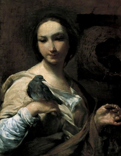 Girl Holding a Dove