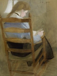 Girl Reading (Seated Girl)