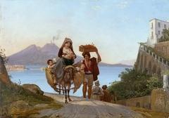 Golf von Neapel mit Fruchthändler