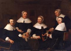 Group portrait of the regentesses of the Aalmoezeniers-, Arm- en Werkhuis, Haarlem