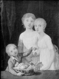Gruppebillede af kunstnerens børn
