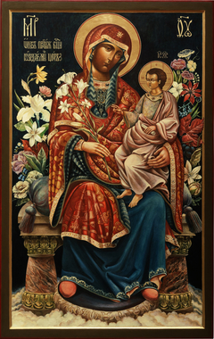 Icon of Holy Mother of God Unfading Flower