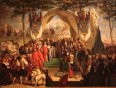 Inauguration de la statue de Henri IV sur la place Royale de Pau par S.A.R. Mgr le duc de Montpensier (27 août 1843)