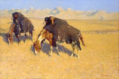 Indians Simulating Buffalo