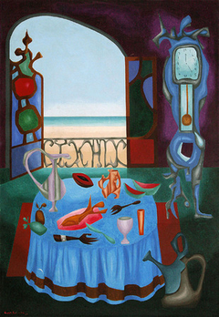 Interior con Vista al Mar (de la Serie Gusanitas) - Interior with Sea View (from the Gusanita Series)