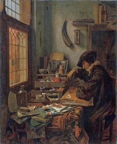 Interior with a pigment dealer