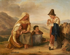 Italian Peasant Family with a Boy playing a Flute