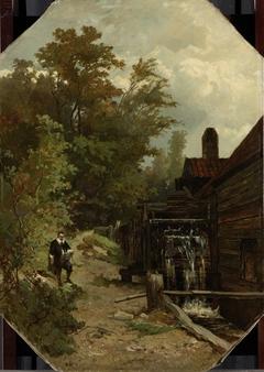 Jacob van Ruisdael Sketching a Watermill