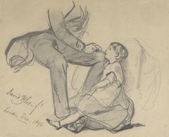 Jhr. Lambertus van den Berch van Heemstede met zijn dochtertje Maria