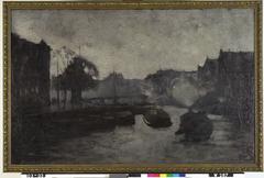 Kromme Waal met schepen, Amsterdam