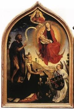La Vierge et l'Enfant Jésus apparaissant à Jeanne de France