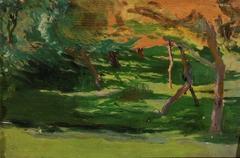 """Landscape, sketch for """"Strange garden"""""""