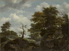 Landscape with Bridge, Cattle, and Figures