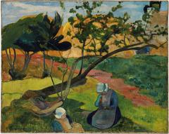 Landscape with Two Breton Women