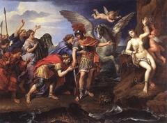Le Roi Céphée et la Reine Cassiopée remerciant Persée d'avoir délivré leur fille Andromède