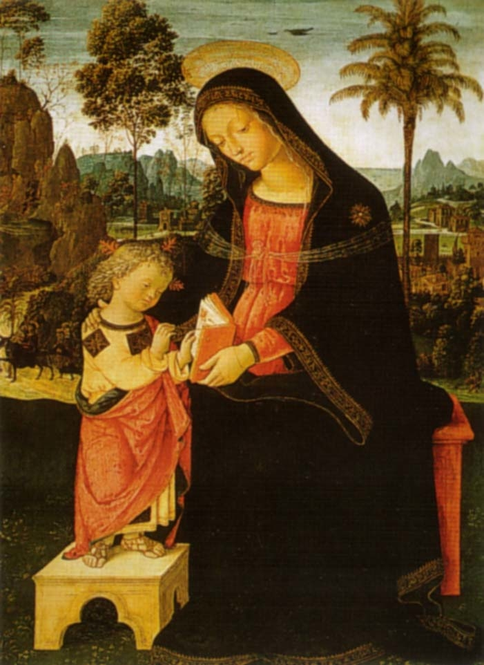 Madonna with Writing Child
