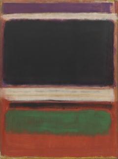 No. 3/No. 13 (Magenta, Black, Green on Orange)