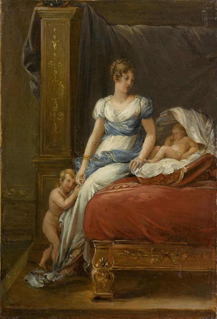Marie-Annunciade-Caroline Bonaparte, reine de Naples et ses enfants