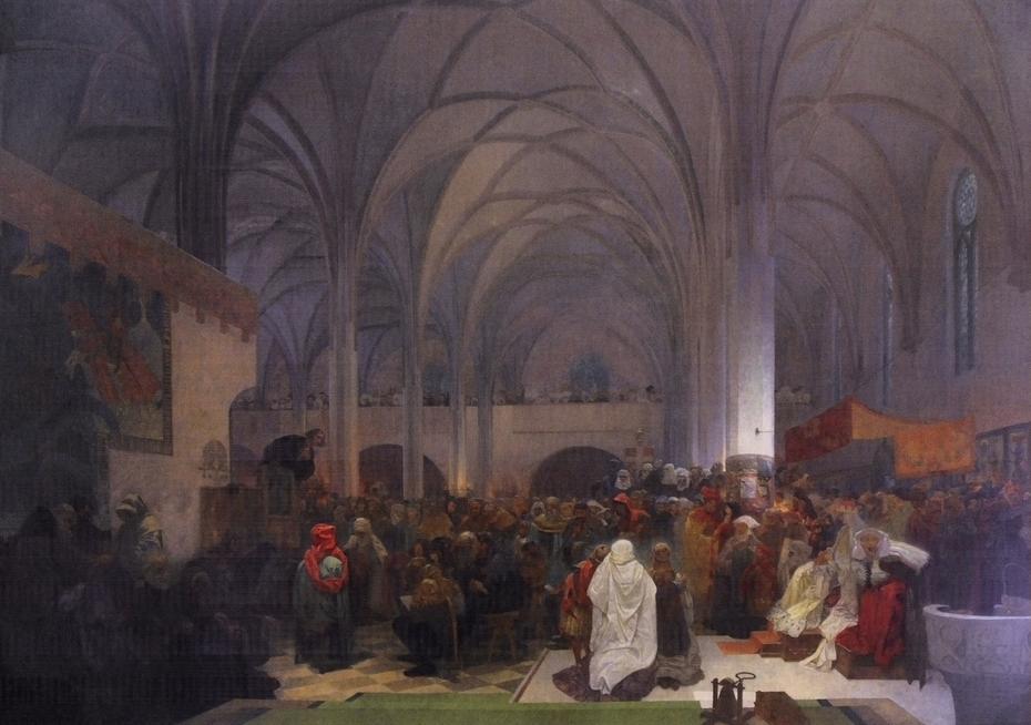 Master Jan Hus Preaching at the Bethlehem Chapel