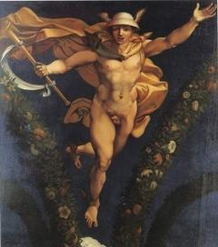Mercure, d'après la fresque de Raphaël à la Farnésine